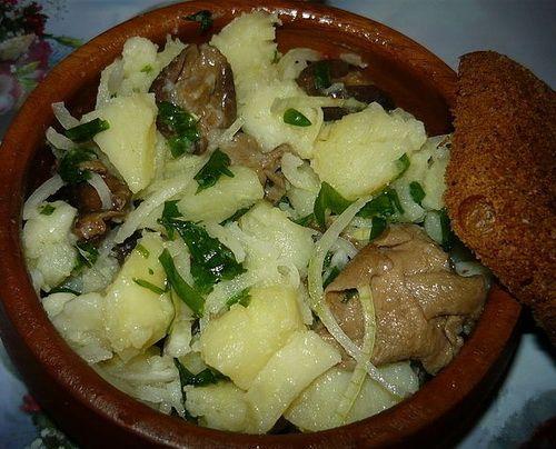 грибы грузди с картофелем