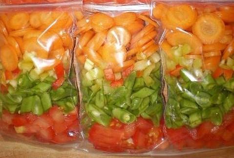 заморозка овощей, фруктов, ягод в домашних условиях